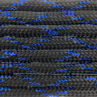 123Paracord Paracord 550 typ III Blue Knight Metallic Glitter Black / Blue Tracer X