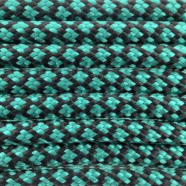 123Paracord Paracord 550 typ III Sea Grün Diamond