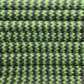 123Paracord Paracord 550 typ III Forest Grün & Schwarz Shockwave