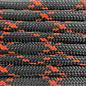 123Paracord Paracord 550 typ III Schwarz / Neon Orange X