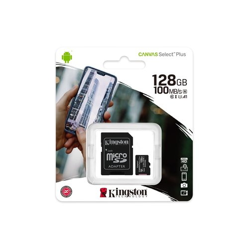 Kingston Kingston Technology microSD memory card Class 10 128GB