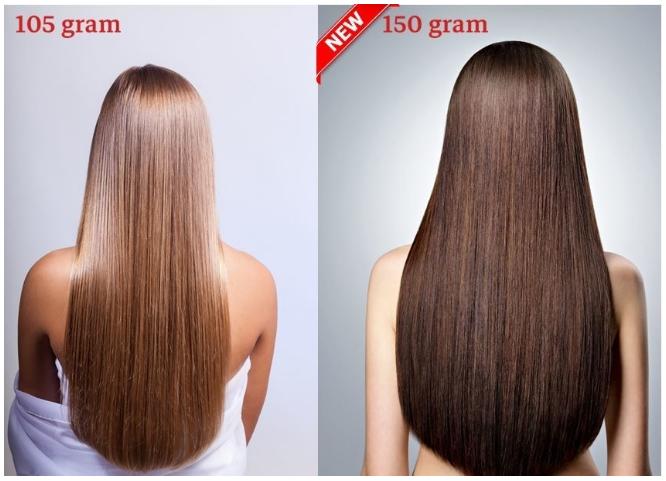 RedFox Clip-In Verlängerungen 45cm - Extra Volumen - 150 Gramm
