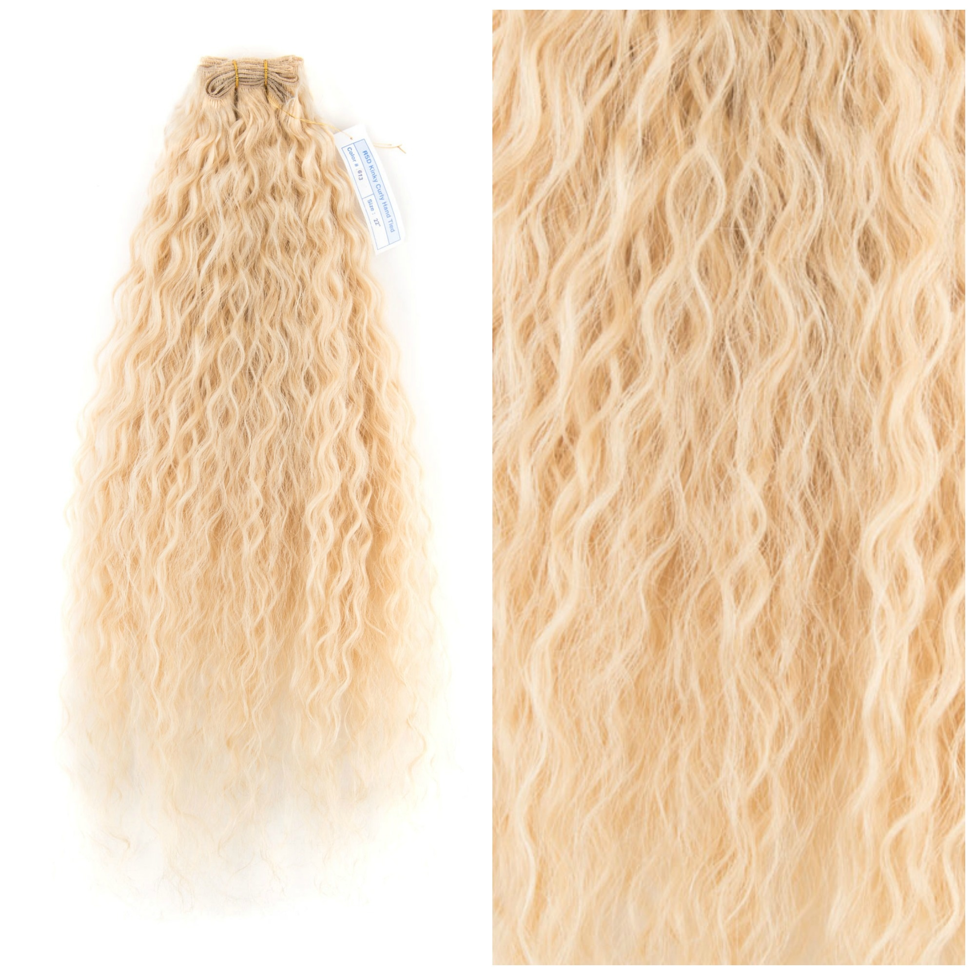 SilverFox Brazilian Kinky Curly Blond #22