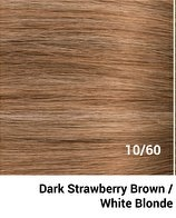 RedFox Clip-in Extensions - Straight - #10/60 Dark Strawberry Brown/ White Blonde