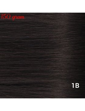 RedFox Clip-in Extensions 45cm - Extra Volume - 150 gram #1B Natural Black