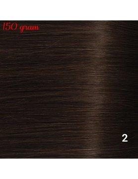 RedFox Clip-in Extensions 45cm - Extra Volume - 150 gram #2 Deep Dark Brown