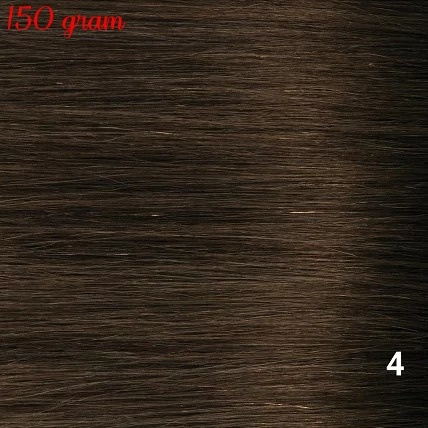 RedFox Clip-in Extensions 45cm - Extra Volume - 150 gram #4 Chocolate Brown