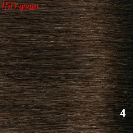 RedFox Clip-In Verlängerungen 45cm - Extra Volumen - 150 Gramm #4 Chocolate Brown