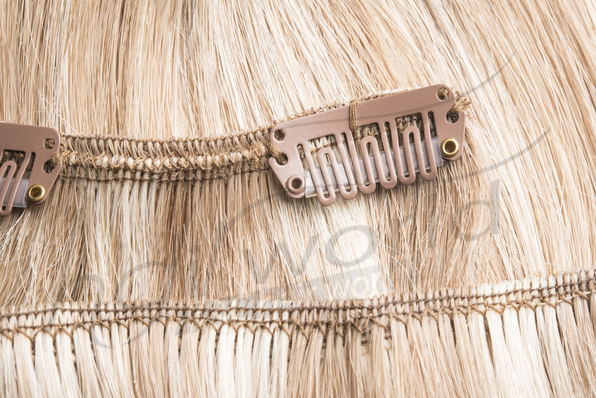 RedFox Clip-in Extensions 45cm - Extra Volume - 150 gram #12/22 Ash Blonde/ Hollywood Blonde