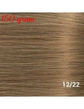 RedFox Clip-In Verlängerungen 45cm - Extra Volumen - 150 Gramm #12/22 Ash Blonde/ Hollywood Blonde