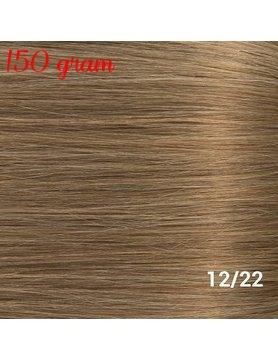 RedFox Clip-In Verlängerungen 45cm - Extra Volumen - 150 Gramm #12/22 Ash Blonde/ Hollywood Blonde