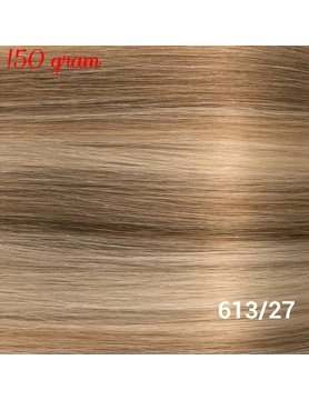 RedFox Clip-In Verlängerungen 45cm - Extra Volumen - 150 Gramm #613/27 Light Blonde/ Dark Blonde