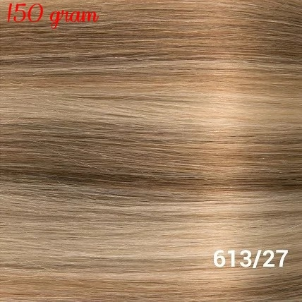 RedFox Clip-in Extensions 45cm - Extra Volume - 150 gram #613/27 Light Blonde/ Dark Blonde