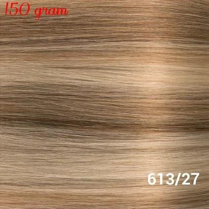 RedFox Clip-In Verlängerungen 45cm - Extra Volumen - 150 Gramm #613/27 Light Blonde/ Dark Blonde