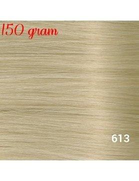RedFox Clip-in Extensions 45cm - Extra Volume - 150 gram #613 Light Blonde