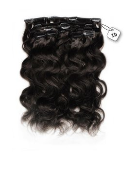 RedFox Clip-in Extensions - Body Wave - #1b Natural Black