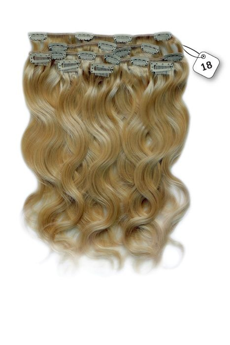 RedFox Clip-in Extensions - Body Wave - #18 Strawberry Blonde