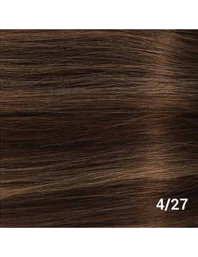 SilverFox Weave - #F4/27- Chocolate Brown, with dark blonde highlights