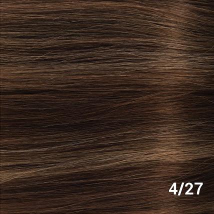 SilverFox Weave - #F4/27- Chocolate Brown, with dark blonde highlights