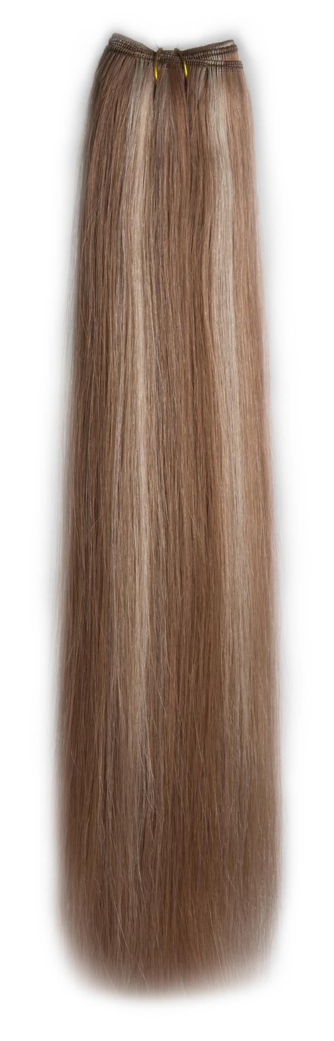 SilverFox Weave - #10/60 Dark Strawberry Brown/ White Blonde