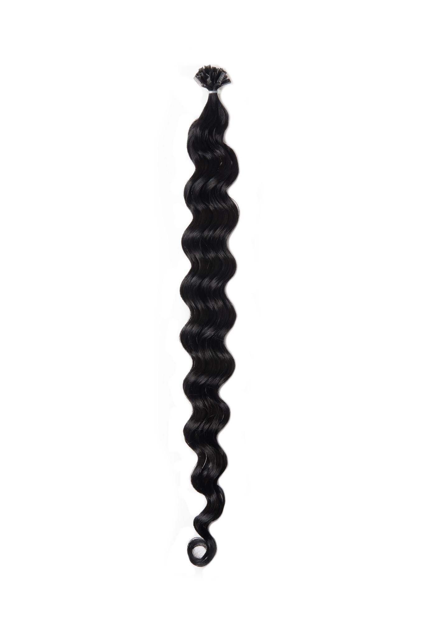 SilverFox Wax Extensions Deep Wave 55cm  #1 Jet Black