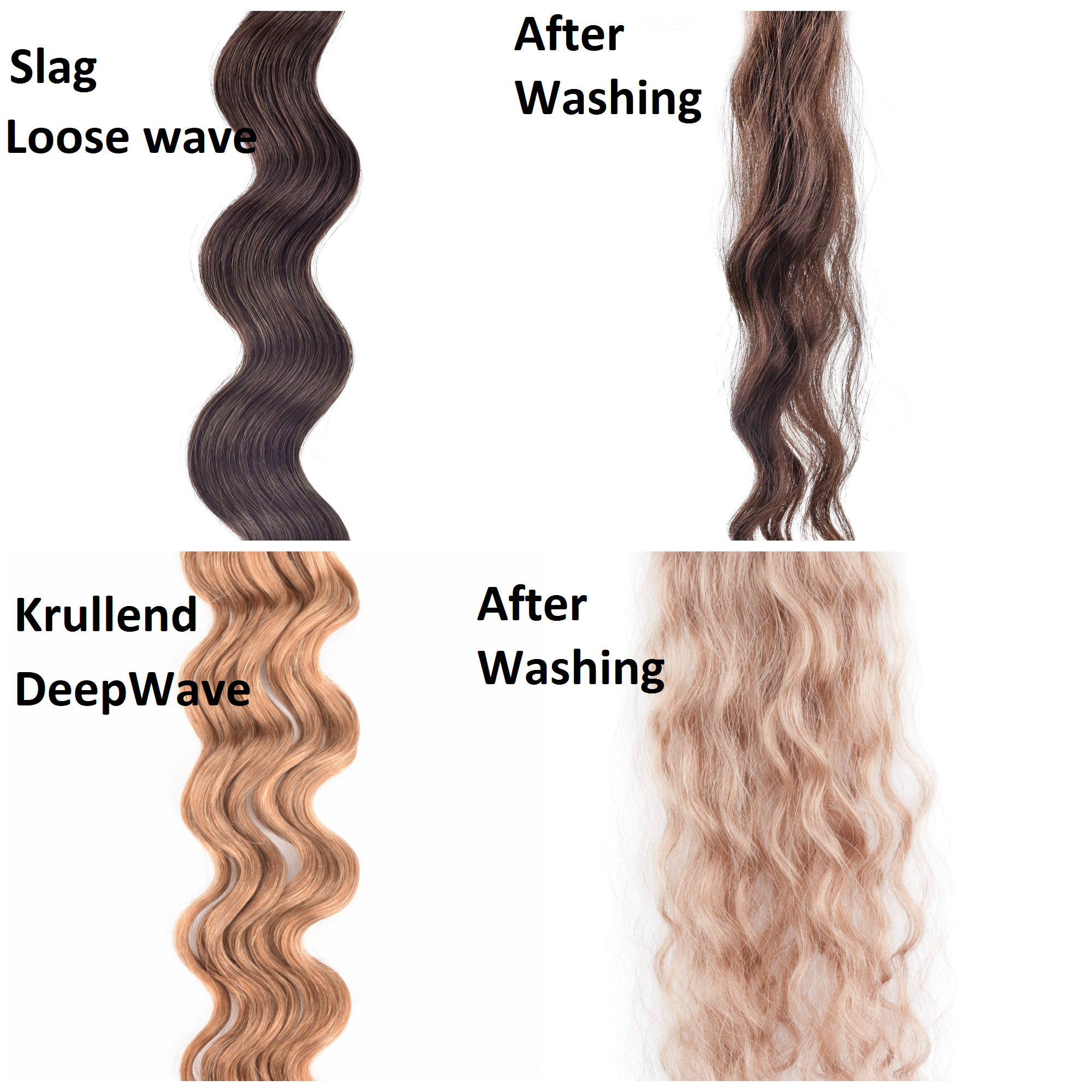 SilverFox Wax Extensions Deep Wave 55cm  #1b Natural Black