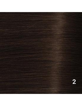 SilverFox Wax Extensions Deep Wave 55cm  #2 Deep Dark Brown
