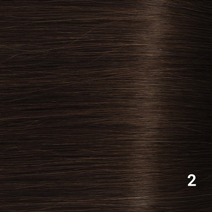 SilverFox Wax Extensions Deep Wave 55cm  #2 Deep Dark Brown