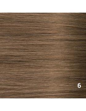 SilverFox Wax Extensions Deep Wave 55cm  #6 Light Chestnut Brown