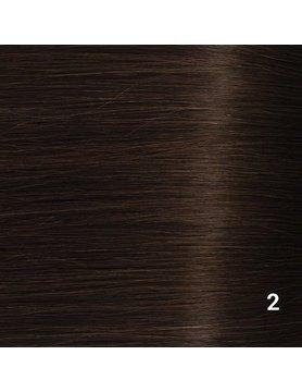 SilverFox Tape Extensions Straight - #2 Deep Dark Brown