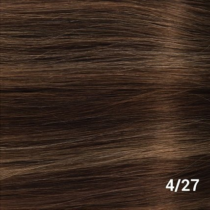 SilverFox Tape Extensions Straight - #4/27 Chocolate Brown, with dark blonde highlights - 50 cm