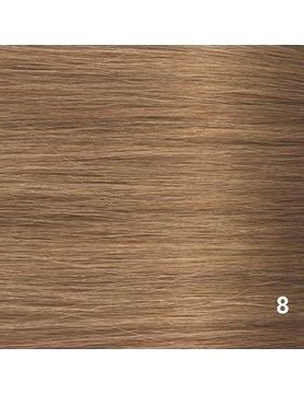 SilverFox Tape Extensions Straight - #8 Cinnamon