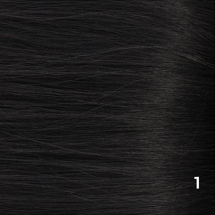 SilverFox Wax Extensions Steil  #1 Jet Black