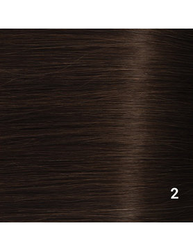 SilverFox Wax Extensions Steil  #2 Deep Dark Brown