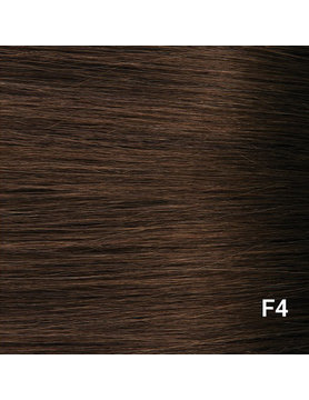 SilverFox Wax Extensions Steil  #F4 Dark Chestnut Brown- 65cm