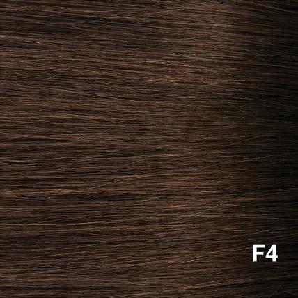 SilverFox Wax Extensions Steil  #F4 Dark Chestnut Brown- 65cm