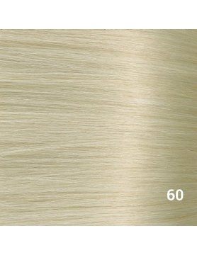 SilverFox Tape Extensions Straight - #60 White Blonde