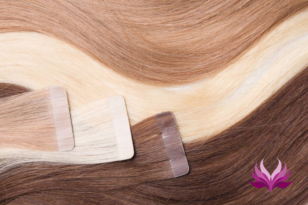 SilverFox Tape Extensions Straight - #T3/116  Ombre Chocolate Brown/ Ash Light Blond - 50 cm