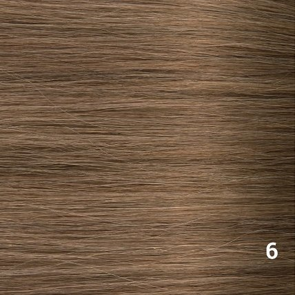 SilverFox Microring Extensions - Steil -  #6 Light Chestnut Brown