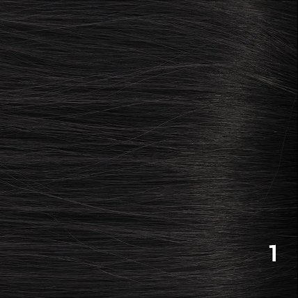 SilverFox Microring Extensions -  Loose Wave-  #1 Jetblack  - 55cm