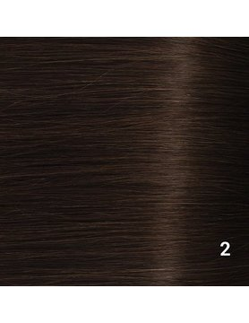 SilverFox Microring Extensions -  Loose Wave-  #2 Deep Dark Brown - 55 cm
