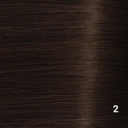 SilverFox Microring Extensions -  Loose Wave-  #2 Deep Dark Brown - 55 cm