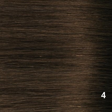 SilverFox Microring Extensions -  Loose Wave-  #4 Chocolate Brown - 55 cm