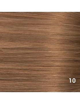 SilverFox Microring Extensions -  Loose Wave-  #10 Dark Strawberry Brown - 55 cm