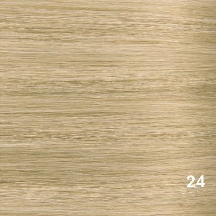 SilverFox Microring Extensions -  Loose Wave-  #24 Warm Light Blonde - 55 cm