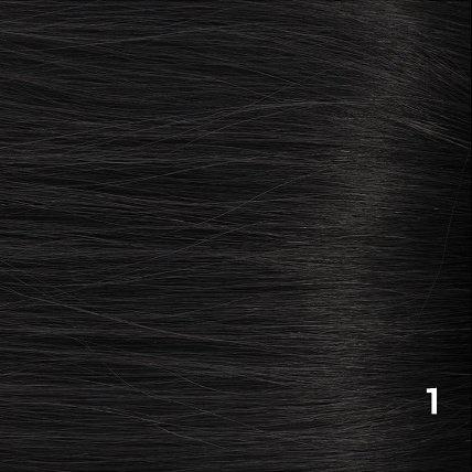 SilverFox Microring Loopring  Extensions - Steil -  #1 Jetblack  - 55 cm