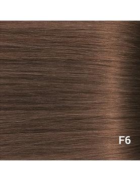 SilverFox Wax Extensions Steil #F6 Chestnut Brown -65cm