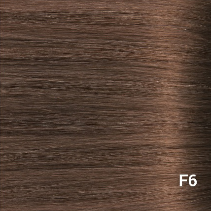SilverFox Wax Extensions Steil #F6 Chestnut Brown- 65cm