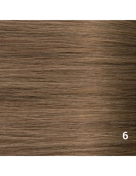 SilverFox Microring Loopring  Extensions - Steil -#6 Light Chestnut Brown