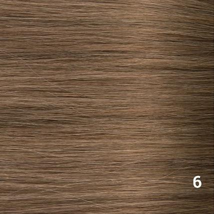 SilverFox Microring Loopring  Extensions - Steil -#6 Light Chestnut Brown